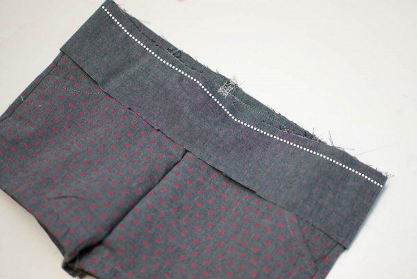 DIY Kids Shorts Series 1200 x 800 - Basic Shorts-Attach the Waistband