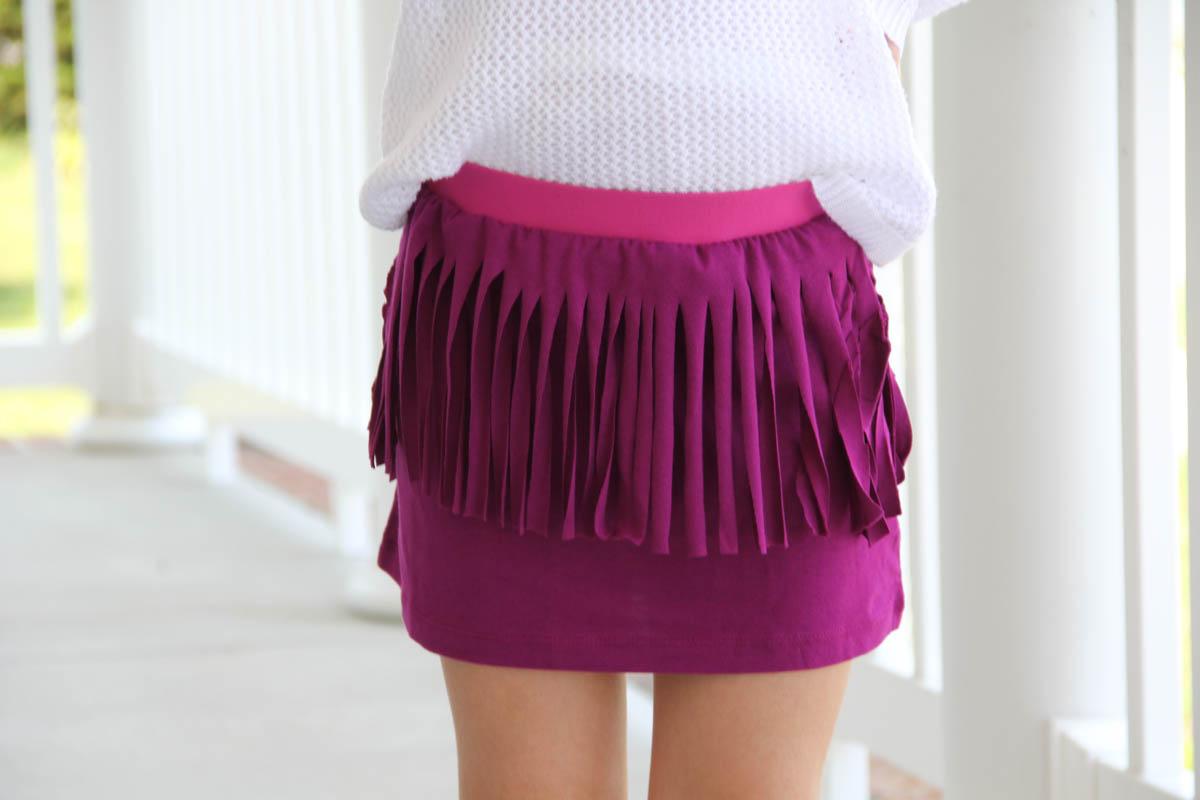 How To Sew A Trendy Fringe T Shirt Skirt Weallsew