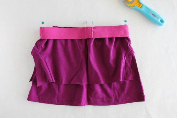 Fringe Skirt Sewing Tutorial-Elastic Prep