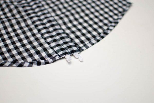 Gathered Shorts Tutorial, slipping ribbon through casing