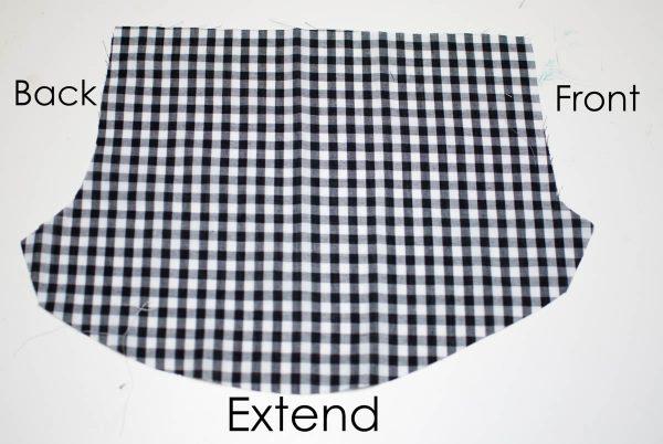 Gathered Shorts Tutorial, Cut Pattern