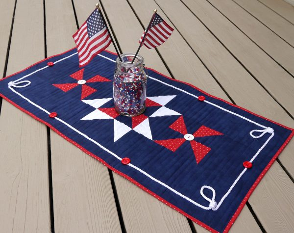 How to Sew a Patriotic Patchwork Tablerunner from WeAllSew