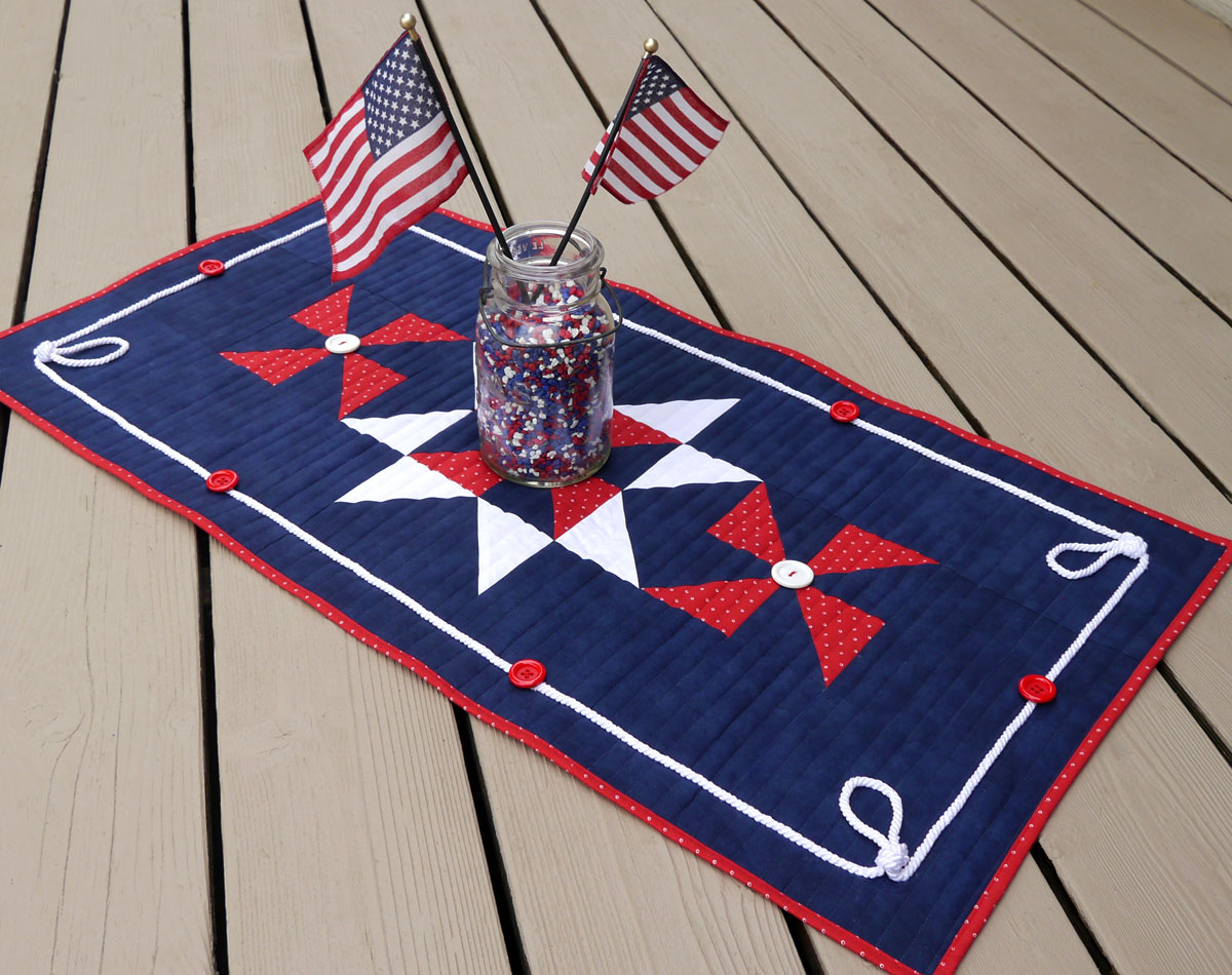 how to sew a patriotic patchwork tablerunner weallsew