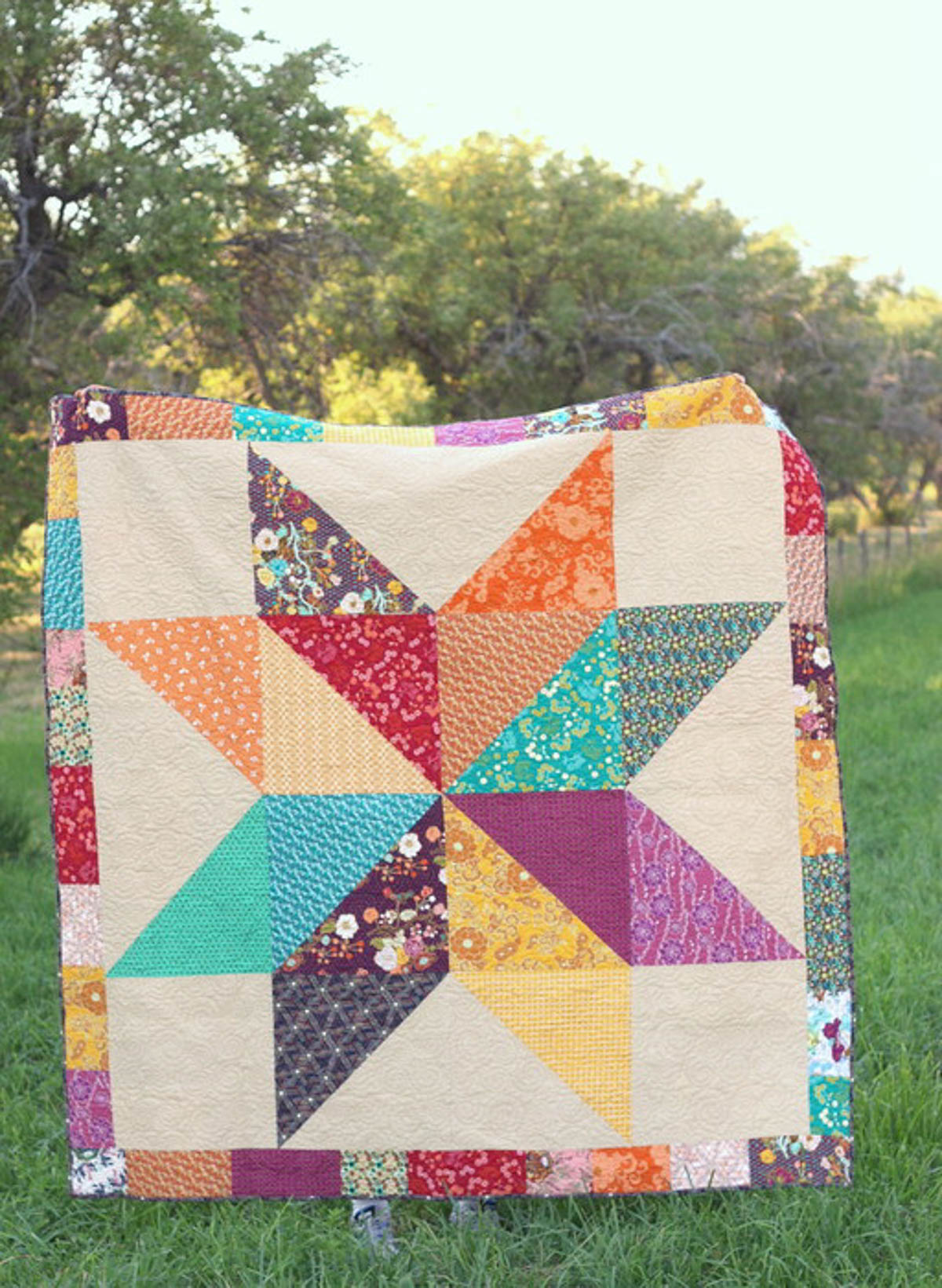 Baby Quilt Blocks.How To Supersize Quilt Blocks Weallsew
