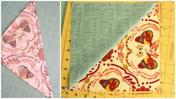 Lone Star Baby Quilt Quilt-Along Part II-square-up half square triangle block