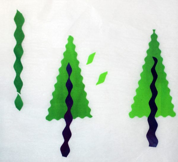 Peace Holiday Wall Hanging Tutorial fusing trees