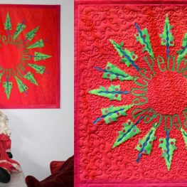 Christmas in July Peace Holiday Art Quilt Tutorial