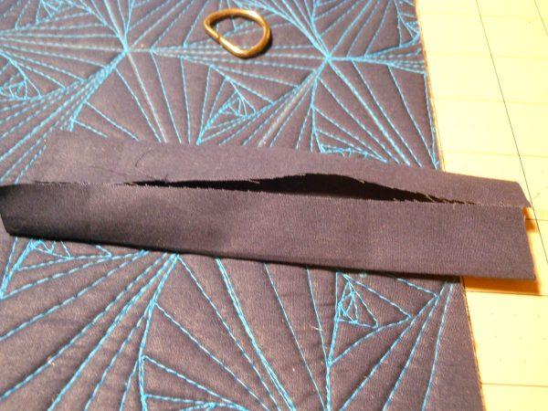 Pyramid Pouch Tutorial - cut straps