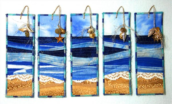 Seascape and Shells Bookmark Tutorial
