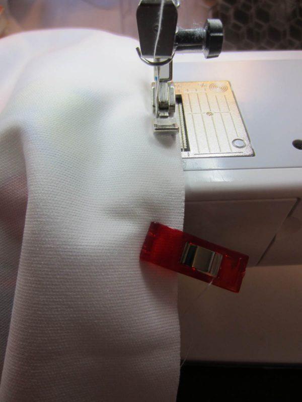 "Swim Wetbag Sewing Tutorial - Sew 1/8"" away from zipper teeth"