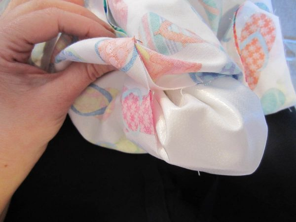 Swim Wetbag Sewing Tutorial - Turn right side out through opening in exterior