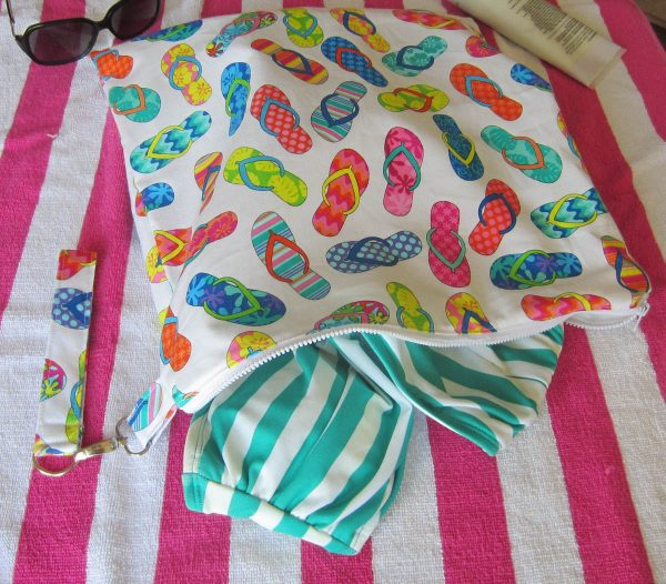 Swim Wetbag Sewing Tutorial Finished Wetbag