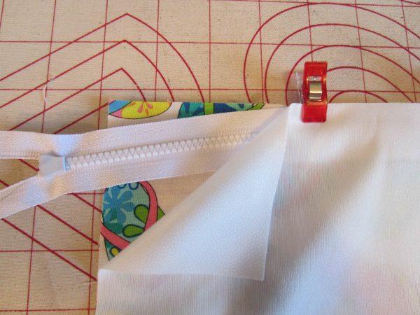 Swim Wetbag Sewing Tutorial - Create the fabric sandwich