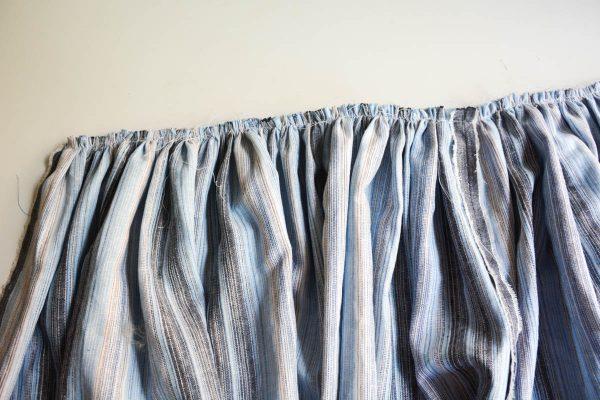 Midi Skirt Tutorial - press seam allowance up toward waist band