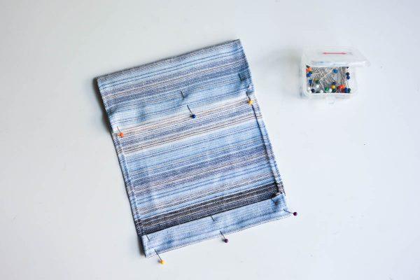 Midi Skirt Tutorial - Fold the bottom edge of the pockets up