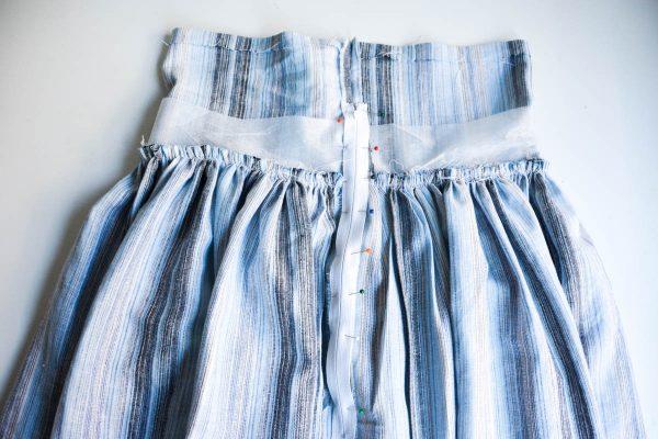 Midi Skirt Tutorial - installing the zipper