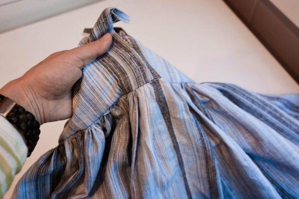 Midi Skirt Tutorial - unpick the basting stitches