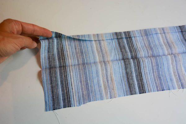 Midi Skirt Tutorial - Fold the waistband piece