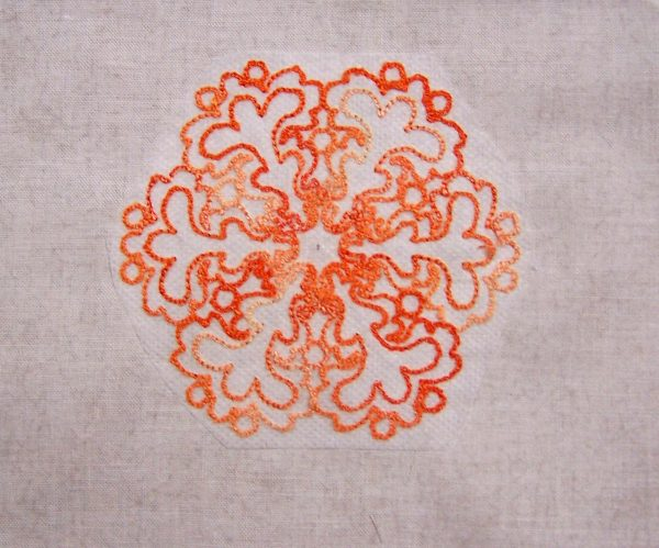 Embroidered Orange Delight Pincushion Tutorial