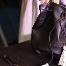 Upcycled Leather Barrel Bag Tutorial