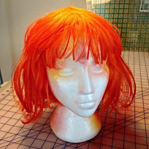 DIY Leeloo Dallas' Multipass Costume - The Wig