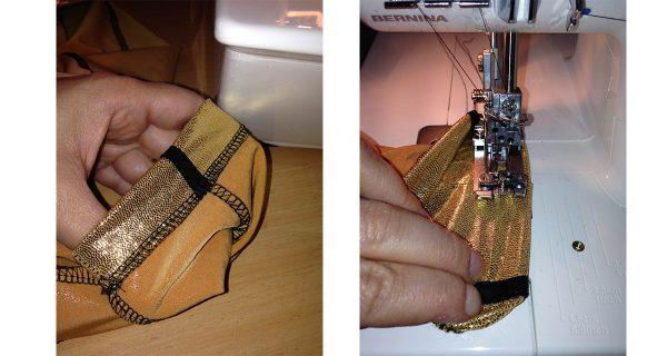 Hemming the pants - Leelo Dallas' Multipass Costume