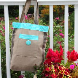 Rustic Tote Bag Tutorial from WeAllSew