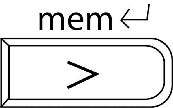 Tape Measure Stitch Tip - Memory button