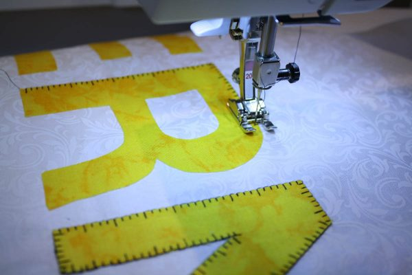 Tape Measure Stitch Tip - Stitching on Letters