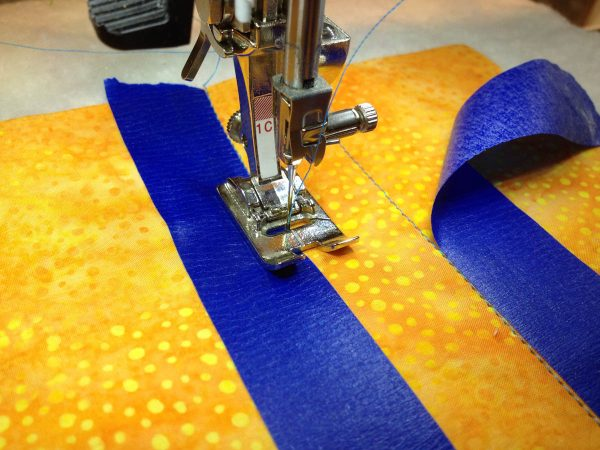 Taping Tips for Quilters - sewing along the tape