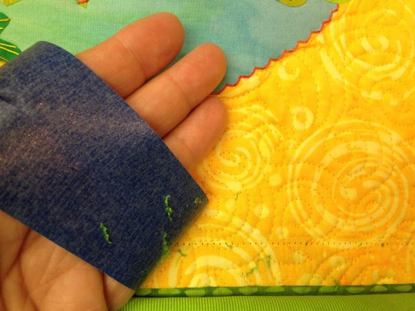 Taping Tips for Quilters - removing stray threads