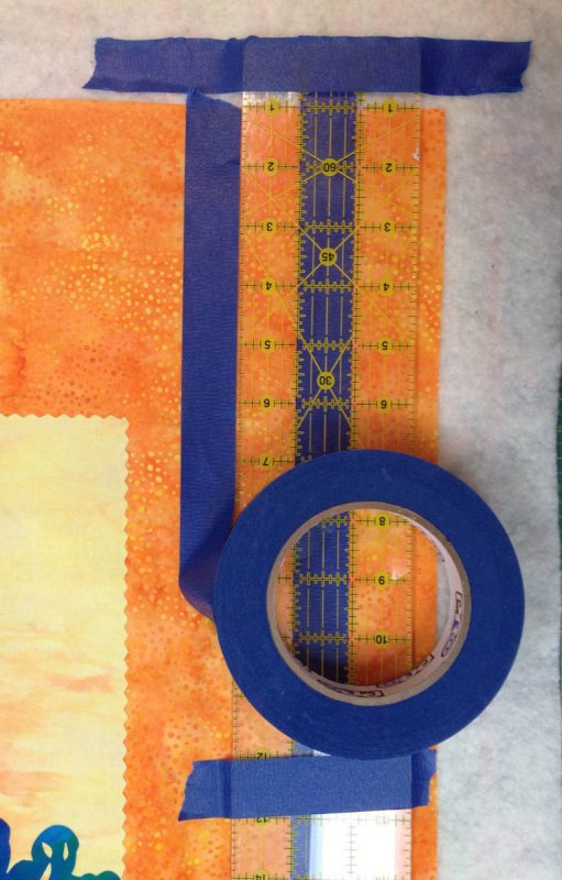 Taping Tips for Quilters - using tape as your guide