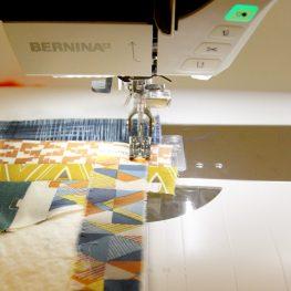 Quilt as you go patchwork pillow tutorial