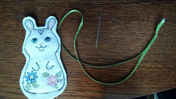 Baby Mobile Tutorial - bunny and supplies