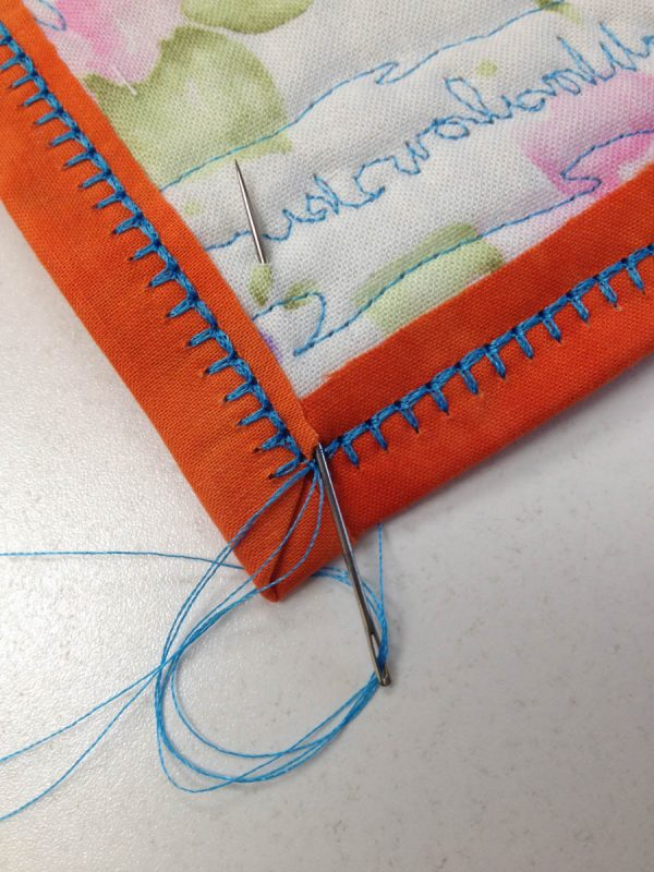 Blanket stitch tip for binding weallsew