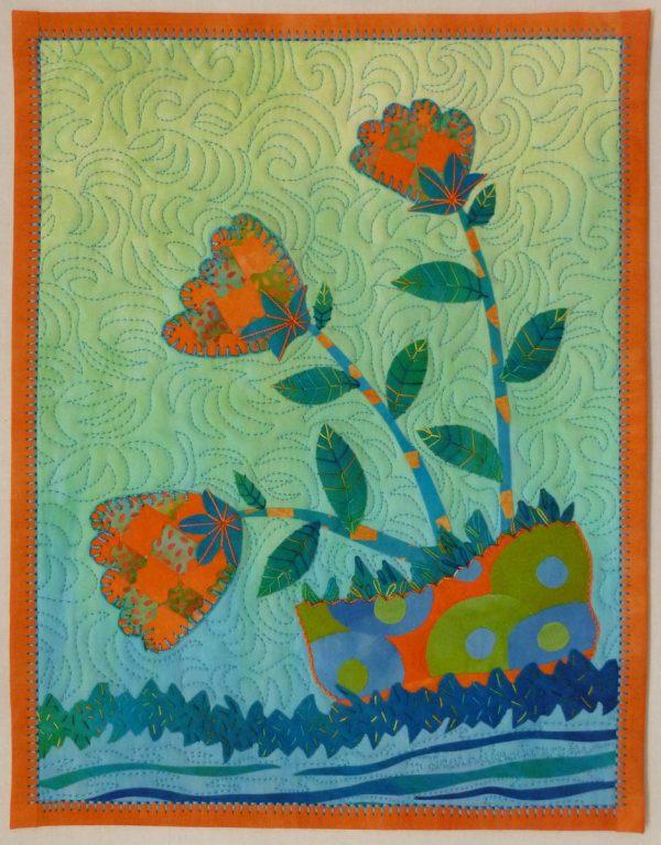 Binding Stitch Tip - Springblossom Quilt Laura Wasilowski