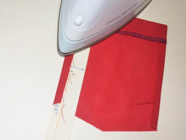 Patch Pocket Tutorial - pressing the hem and pocket edges in place