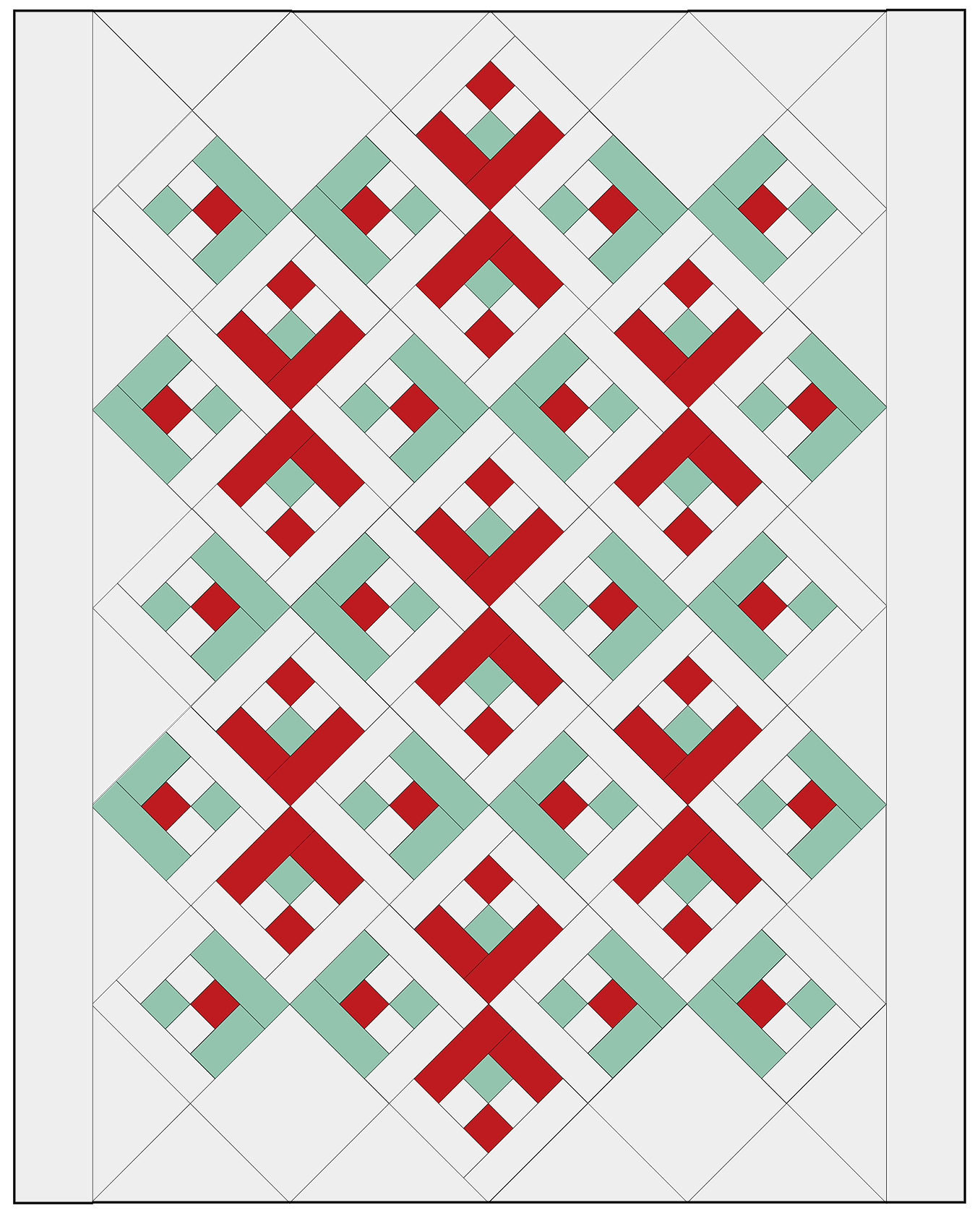 Snowflake Quilt Assembly Diagram Step 4