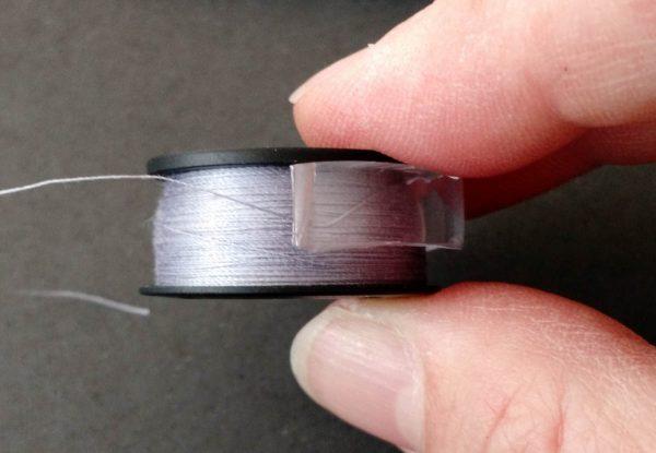 Bobbin Tip - vinyl ring on bobbin