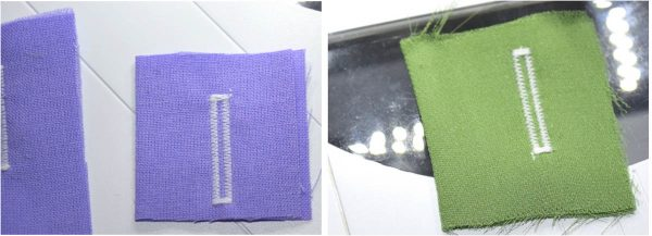 Buttonhole Sewing Tip - Buttonhole with proper stabilizer