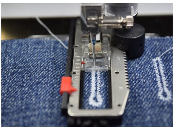 Buttonhole Sewing Tip - denim buttonhole duplication sample