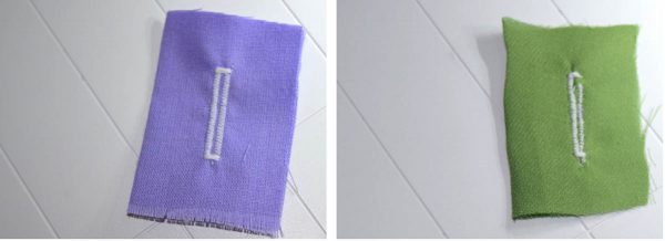 Buttonhole Sewing Tip - Result without stabilizer