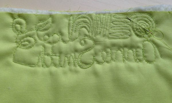 Free-Motion Quilting Exercise Tips - burying thread ends