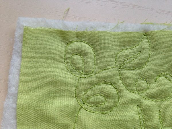 Free-Motion Quilting Exercise Tips - stitching a sample