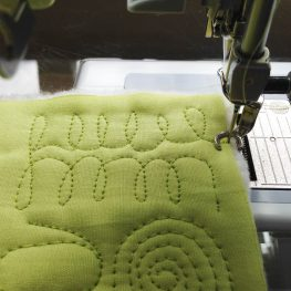 Free-Motion Quilting Exercise Tips - Feed Dogs UP