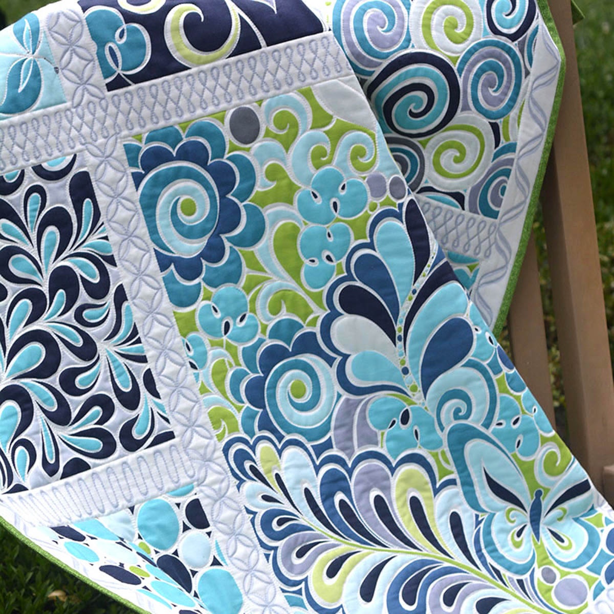 Free Motion Quilting Panels And Book Give Away Weallsew