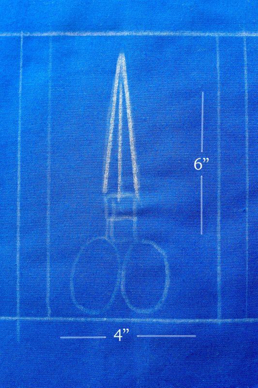 Scissors Motif Pincushion Tutorial