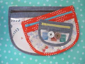 Vinyl Zip Pouch Tutorial - finished in different sizes