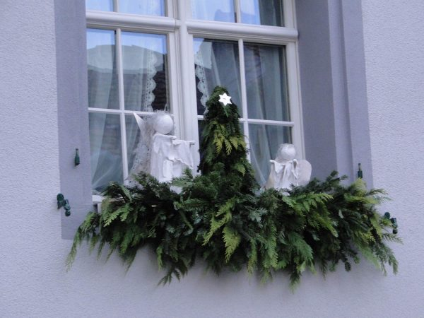 Christmas Season in Steckborn Switzerland - window decorations