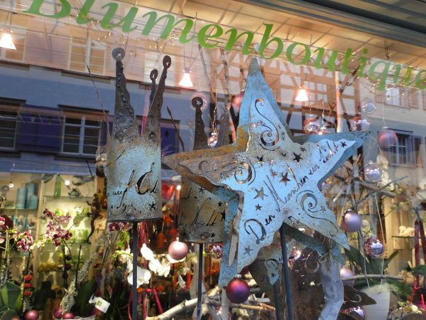 Christmas Season in Steckborn Switzerland - Metal Art